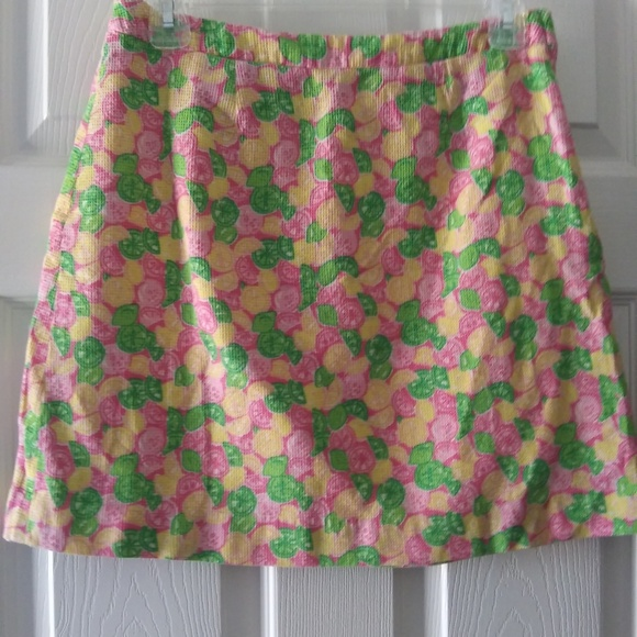 LILLY PULITZER Dresses & Skirts - LILLY PULIZTER LEMON AND LIME ALINE SKIRT